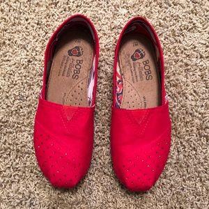 Bobs Skechers Red Rhinestone shoes
